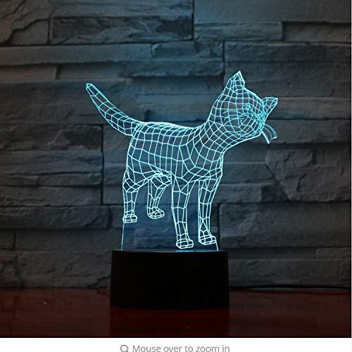 Nette Katze Kitty Lampe 7 Farben Ändern Nachtlicht Atmosphäre Licht 3D Stimmung Touch Lampe Wohnkultur 3D -