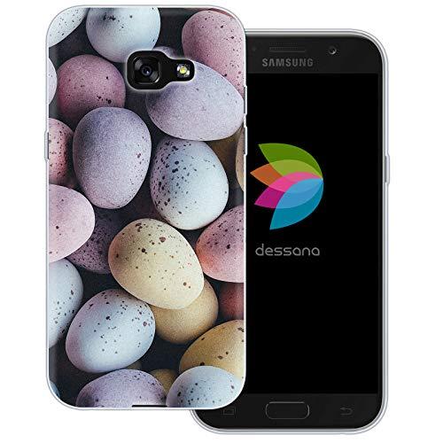 dessana Candy Süßigkeiten Transparente Schutzhülle Handy Case Cover Tasche für Samsung Galaxy A5 (2017) Oster Eier