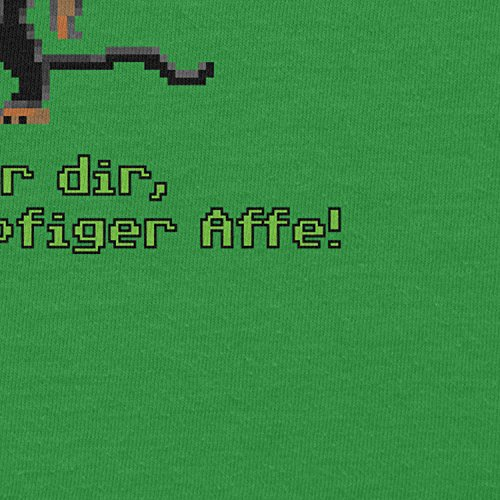 NERDO - Dreiköpfiger Affe - Herren T-Shirt Grün