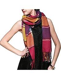 94d87e2d83adbf 190 * 50 cm Herbst Winter Weiblichen Wolle Plaid Schal Frauen Kaschmir  Schals Breite Gitter Lange Schal Wrap Decke Warme Tippet Drop…