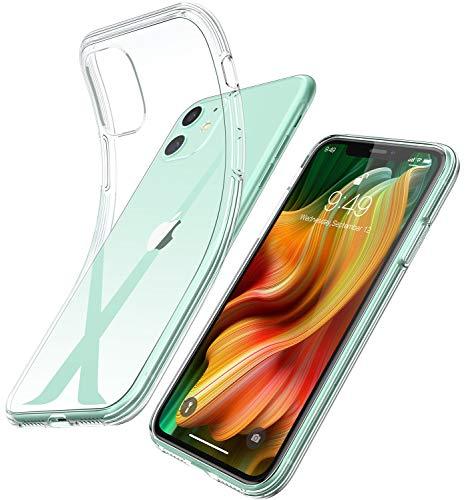 Youmixx Kristallklare Hülle für iPhone 11, Dünn Transparent Anti Gelb umweltfreundlich TPU Airbag Bumper Stoßfest Anti Fingerabdruck Anti Scratch Handyhülle für iPhone 11