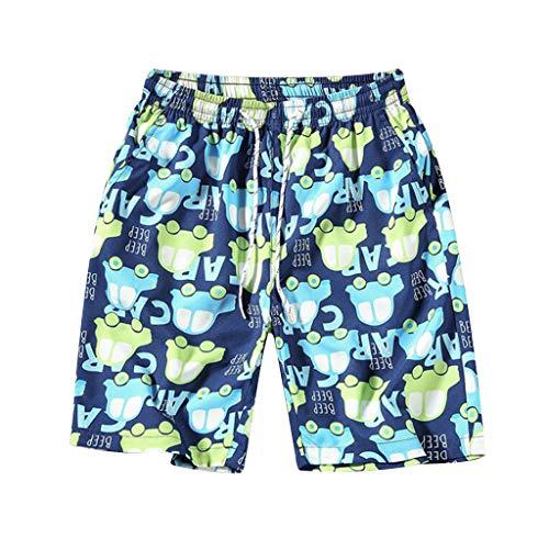 Costumi da bagno uomo,moda uomo pantaloni traspiranti pantaloni da spiaggia stampa running biancheria intima da bagno,pantaloncini e calzoncini da bagno per uomo