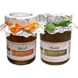 Farm Naturelle-100% Pure Raw Natural Jungle/Forest Honey And Forest Acacia Honey (815 Grams X 2 Packs)-Delicious...
