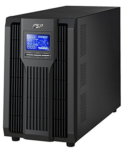 FSP Fortron Champ Tower 3k, echte Doppelwandler Online-USV,3000 VA / 2700 W, bis 300VAC, mit USB, RS-232 ,Eingangsleistungsfaktor-Korrektur, Generator kompatibel, Transfer Zeit 4 ms (Typical) (2000-watt-ups)
