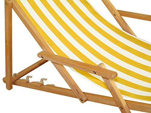 preisvergleich liegestuhl gelb wei gartenliege sonnenliege willbilliger. Black Bedroom Furniture Sets. Home Design Ideas