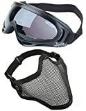 Best Airsoft Goggles - 2 in 1 Protection Steel Mesh Face Mask Review