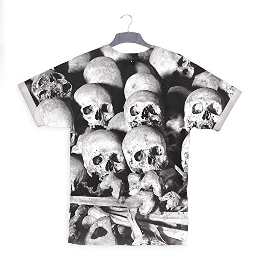 All Over Print Hip Rock Metal T-shirt (Echt Aussehende Maske Halloween)