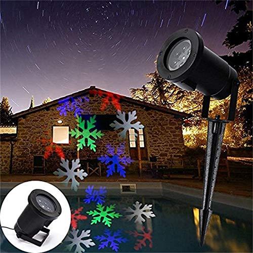 Solar Gartenlicht Fenster Schneelichter Projektor Indoor Winter Wonderland Dekorationen Schneefall Projektor Outdoor Dekorationen Bewegen, Schneeflockenprojektor for Feenhäuser, Hochzeit, Party, bunt