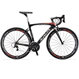 Vélos de Route Carbone, SAVA HERD6.0 700C Velo de Course Homme 22 Vitesses Shimano 105 7000 Group et Selle fizik Route
