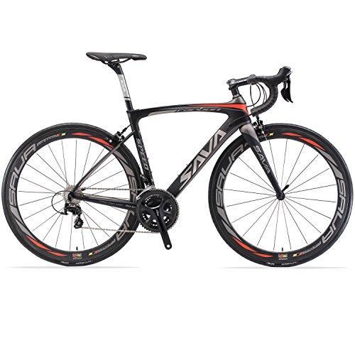 Vélos de Route Carbone, SAVA HERD6.0 700C Velo de Course Homme 22 Vitesses...