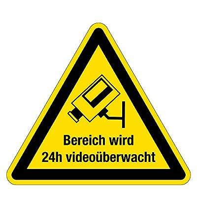 Warnzeichen - Bereich wird 24h videoüberwacht - Kunststoff