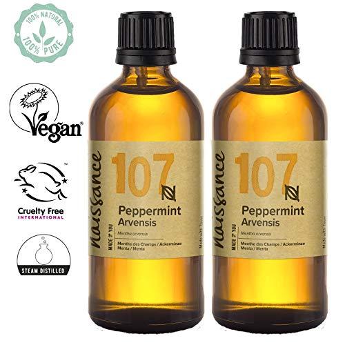 Naissance Peppermint/Ackerminze/Mentha Arvensis (Nr. 107) 200ml (2x100ml) 100% reines ätherisches Minzöl -