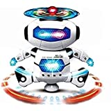 Lalli Sales Dancing Robot With 3D Lights And Music, Multi Color