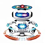 #7: MW Toyz Preschool Learning Robot Toys, Dancing Robotic Teacher for Kids, Teach Letter, Numbers and Shapes with 360° Spinning Function