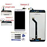 Full LCD display Digitizer Touch Screen Ecran Vitre Tactile Assembly Remplacement Pour 5.2' Huawei Honor V9 play Standard JMM-AL10/AL00/JMM-TL10/TL00/Honor 6C Pro (white version 2)
