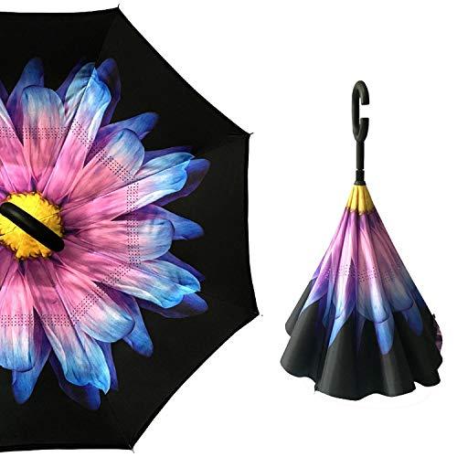 Reverse-Umbrella Man Inverted Regenschirm Regenschirme Griff C Winddichtes Frauen Sonne und Regen Anti Uv Parapluie, Regenschirm O