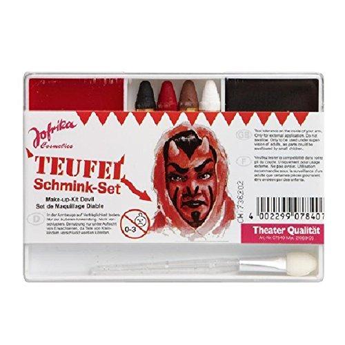 Karneval Schmink-Set - Teufel (Halloween Up Make Kostüm Teufel)