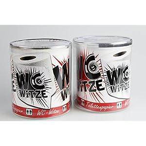 Kamaca 2er Set Lustiges Toilettenpapier Spaß Klopapier mit tollen WC Witzen in Geschenkklarsichtbox mehr Spaß auf dem Stillen Örtchen Cooler PARTYGAG Geschenkidee
