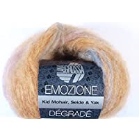 Fb Emozione degrade 106 anthrazit//schlamm 25 g Wolle Kreativ Lana Grossa