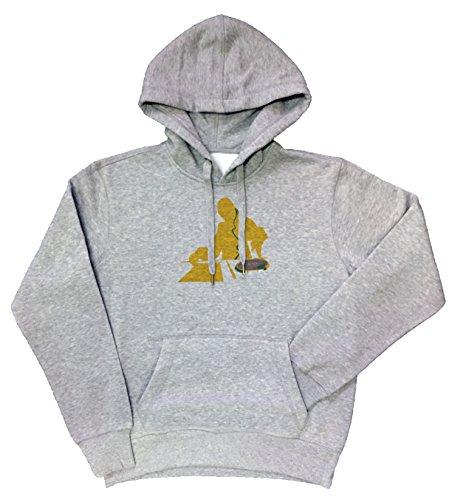 Disc-jockey giallo Donna Grigio Felpa Felpa Con Cappuccio Pullover Grey Women's Sweatshirt Pullover Hoodie
