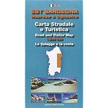 Est Sardegna nuorese e ogliastra. Carta stradale e turistica. Le spiagge e la costa 1:200.000