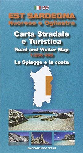 Est Sardegna nuorese e ogliastra. Carta stradale e turistica. Le spiagge e la costa 1:200.000 por Enrico Spanu