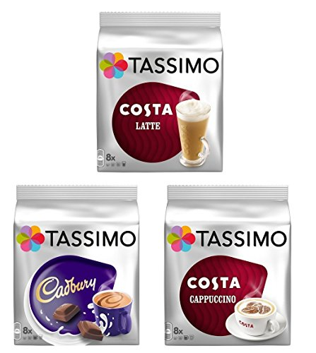 32 x Tassimo Favourite Variety T-discs for Tassimo Machine Only by Tassimo