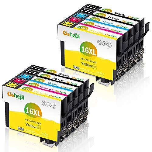 Gohepi 16 XL Alta Capacidad Cartuchos de tinta