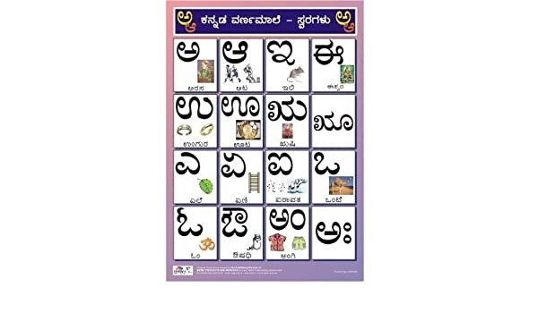 Amazon in: Buy Kannada Alphabet Charts (Vowels) for kids