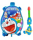 #8: Theme My Party Holi Pressure Water Gun Pichkari with Back Pack Tank Squirter In Kids Favourite Characters - Size 1.25 ltrs (Blue)