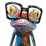 QIYUN.Z Verrückte Abstrakte Frosch Print Diamant-Verzierte DIY Handwerk Malerei Partiellen Bohrer Stickerei Kreuzstich Kunst Handwerk Haus Wanddekoration 9.84 * 11.81 inch