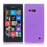 TBOC® Lila Gel TPU Hülle für Nokia Lumia 730 Dual SIM