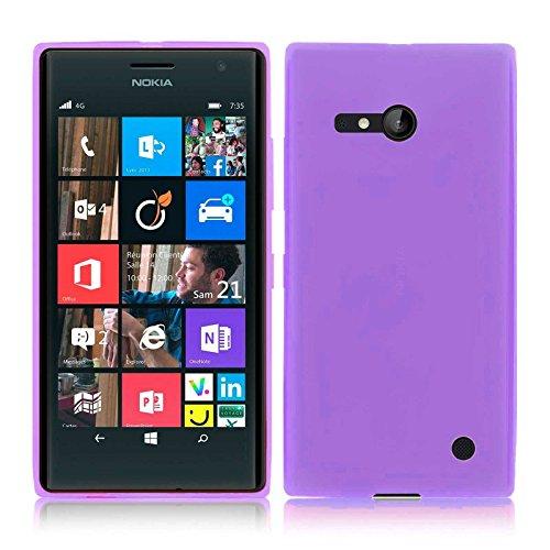TBOC® Lila Gel TPU Hülle für Nokia Lumia 730 Dual SIM Ultradünn Flexibel Silikonhülle