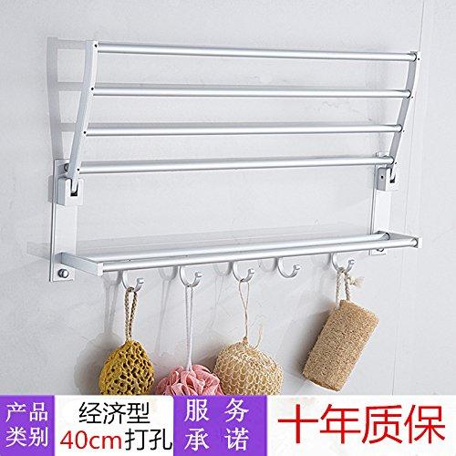 Hlluya Handtuchhalter Hängende Handtuch Heckscheibe Single Layer Doppelzimmer mit Bad Handtuchhalter Handtuchhalter in die Basis der Punch Double Bar 30 cm, 40 cm (Punch zu vermeiden). Layer-satin