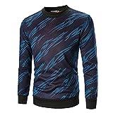 Sweatshirt Herren,SANFASHION Männer Herbst Langarm Gedruckt Pullover Top Tee Streetwear Outwear Bluse