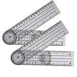 Lhuaguo - Ortopedico medico pieghevole, scala della colonna vertebrale, misura del grado di rotazione facendo ruotare il righello di angolo comune di angolo medico.