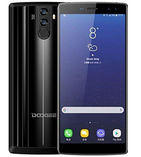 DOOGEE BL12000 - 6.0 pulgadas FHD + (relación 18: 9) 12000mAh batería Android 7.0 4G Smartphone, Octa Core 1.5GHz 4GB + 32GB, cámaras Quad (16MP + 8MP + 16MP + 13MP), carga rápida - Negro