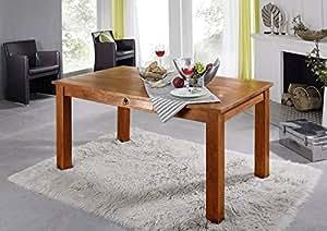 Colonial Table de salle à manger 120x85 Acacia miel massif Meuble OXFORD #111