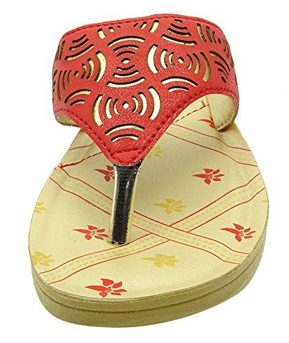 Sonic tongs de mode en plein air bascules dames bistable de pantoufle chaussures Rouge