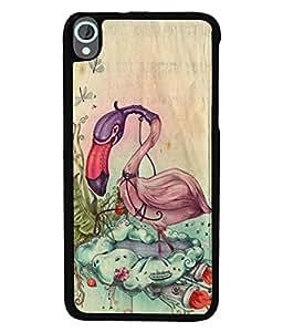 PrintVisa Designer Back Case Cover for HTC Desire 820 :: HTC Desire 820 Dual Sim :: HTC Desire 820S Dual Sim :: HTC Desire 820Q Dual Sim :: HTC Desire 820G+ Dual Sim (Swan Flying Over Its Own Jet Design)