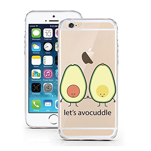 licaso iPhone 8 Handyhülle aus TPU mit Apple Juice Apfelsaft Print Design Schutz iphone8 Hülle Protector Soft Extra (iPhone 8, Apple Juice) Let's Avocuddle