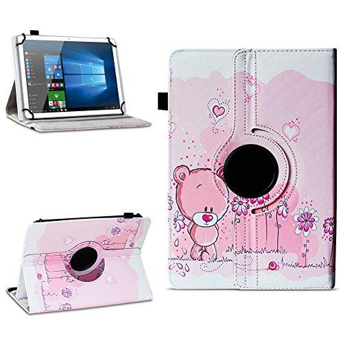 Xido Z120 Z110 X111 X110 Tablet Tasche Schutzhülle hochwertiges Kunstleder Hülle Standfunktion 360° Drehbar Cover Universal Case, Farben:Motiv 1