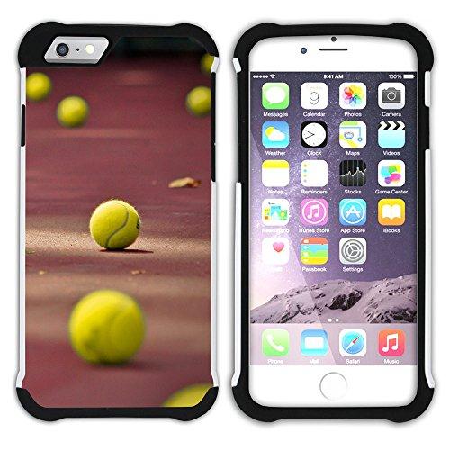 Graphic4You Tennis Ball Sport Hart + Weiche Kratzfeste Hülle Case Schale Tasche Schutzhülle für Apple iPhone 6 Plus / 6S Plus Design #3