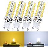 Liqoo® 4uds 4W G9 Bombillas bombilla de la lámpara LED 320 lúmenes Sustituye 30Watt 360ºno regulable blanco cálido Ø 15 x 60mm