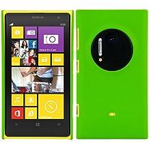 CUSTODIA RIGIDA con rivestimento in gomma, antiscivolo e robusta per Nokia Lumia 1020 in Verde, firmata kwmobile