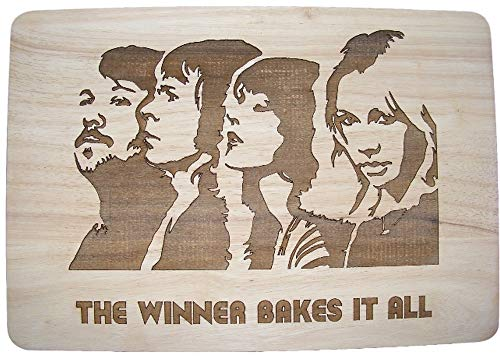 ABBA Wooden Chopping Cheese Board. The Winner Take It All.