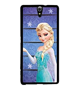 Fuson Premium 2D Back Case Cover Angel with Plait With black Background Degined For Sony Xperia C5 Ultra Dual::Sony Xperia C5 E5553 E5506::Sony Xperia C5 Ultra