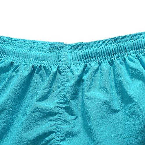 Asvert Herren Badehose Jungen Slim Fit Badeshorts mit Mesh Futter und Tasche Viele trendige Farben und Größen M bis 2XL wählbar blau