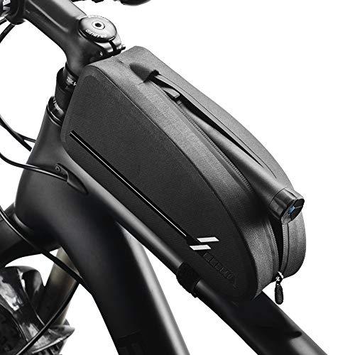 Fengxun Rahmentasche wasserdichte Fahrrad-Oberrohrtasche Satteltasche Lenkertasche Regenschutz,Passend für den Meisten Fahrradsattel wie Rennrad Mountainbike E-Bike u.s.w.(8,46 * 3,35 * 2,16 Inch)