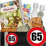Zahl - 65 | Geschenkidee Likör | Geschenke zum 65 Geburtstag für Männer